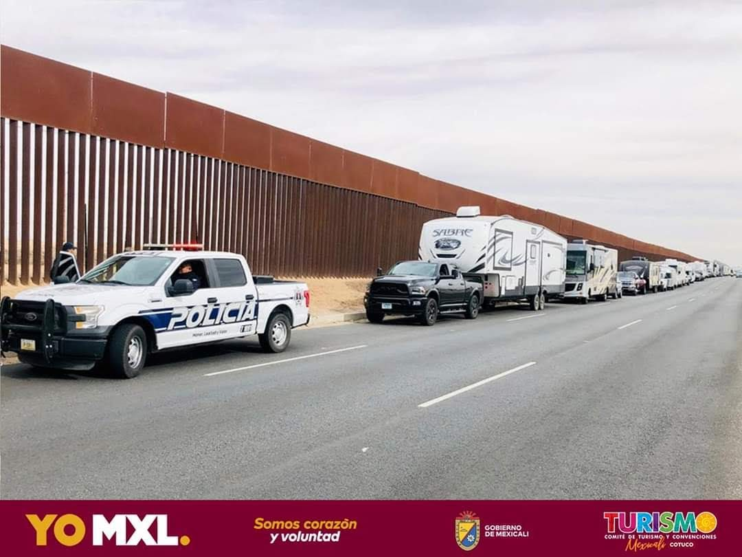 lined up in mexico
